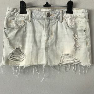 Abercrombie & Fitch Distressed Micro Mini Sz 25/0